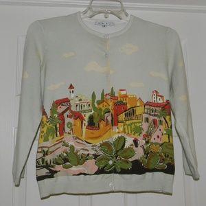 CAbi Light Green Cardigan Sweater    Size M